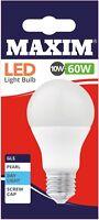 LED 10w = 60w  ES E27 GLS Light Bulb Energy Saving Warm Cool Day White Globe A+