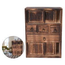1:12 Dollhouse Miniature Wood Furniture Kitchen Cabinet Cupboard Showcase