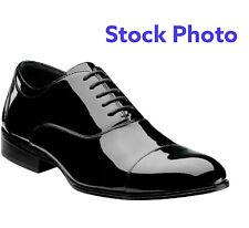 Stacy Adams Men's Gala Tuxedo Oxford, Black Patent, 9 M US