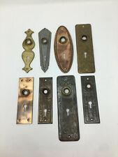 Lot of 8 Mixed Antique American Embossed Ornamental Doorknob Back Plates