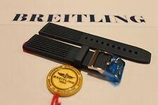 100% genuino nuevo OEM Breitling Buzo Pro Hebilla de Tang Acanalado Azul Correa, 22-20 mm.