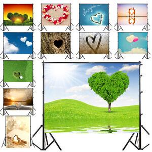 Romantic Heart-shape LOVE Photography Background Studio Photo Backdrop