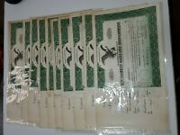 THE EASTERN MALLEABLE IRON CO. 1936 STOCK CERTIFICATES Lot of 10