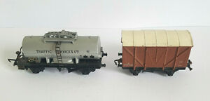 Hornby Duplo 32041 12T Ventilated Van & Tank Wagon 4679 Traffic Services Wagon