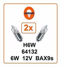 2x H6W OSRAM 6W 12V BAX9s 64132 Parking light Headlight pilot lamp Germany