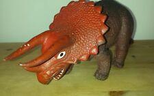 Vintage 80s Toys Hard Rubber Triceratops Dinosaur figure ~ Hong Kong