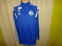 FC Schalke 04 Adidas Spieler Freizeit-Training Zipper/Jacke 2014/15 + Nr.40 Gr.L