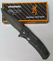 Couteau Pliant, Couteau de  Poche, extèrieur survie MARQUE  BROWNING