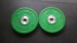 25# Urethane Bumper Plates Green 1 pair Free Shipping