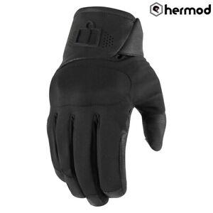 Icon Tarmac 2 Short Waterproof Motorbike Motorcycle Gloves - Black