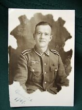 WW II German Soldier - orig 1941 snapshot photo