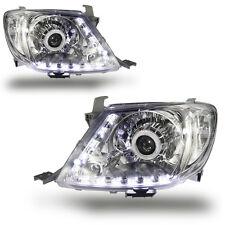 FRONT HEAD LIGHT LAMP LED PROJECTOR CLEAR LEN TOYOTA HILUX VIGO SR5 05 07 09 11
