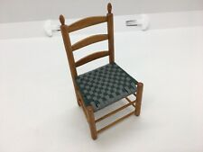 Dollhouse Miniature Furniture Shaker Chair Woven Seat Signed Gus Schwerdtfeger