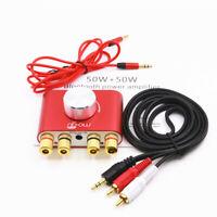 Hi-Fi Digital Amplifier Stereo Mini Bluetooth 5.0 Audio Desktop Power Amp 50W*2