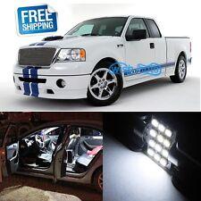 9Pcs  White LED Lights Interior Package Kit for Ford F150 2004-2014