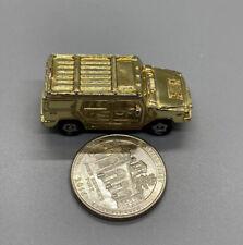 2004 Playmates Speedeez Micro Size Roller Ball Gold Hummer H2, Good Condition