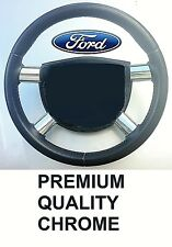 FORD MONDEO MK 3 STEERING WHEEL SPOKE TRIMS -  CHROME EFFECT - PREMIUM QUALITY
