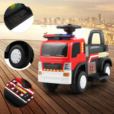 Kids Ride On Fire Truck 6V Battery Powered Electric Vehicle w/ Siren Headlights