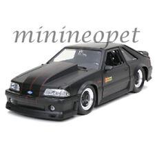 JADA 32304 BIGTIME MUSCLE 1989 FORD MUSTANG GT 1/24 DIECAST MODEL MATTE BLACK