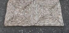 SISAL NATURAL SEA GRASS RUG MAT approx 30 x 60 cm  (1' x 2')