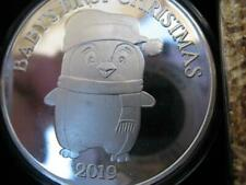 1-OZ CUTE 2019 BABY'S FIRST CHRISTMAS ENGRAVABLE GIFT BOX .999 SILVER COIN+GOLD