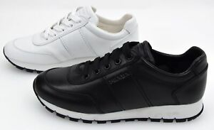PRADA WOMAN SNEAKER SHOES SPORTS CASUAL TRAINERS FREE TIME CODE 3E6046 PELLE