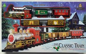 Christmas Train Set The Classic Battery Operated with Sound & Lights Kids Gift