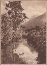 G1217 France - La Rive au Bourg d'Oisans - Stampa d'epoca - 1931 vintage print