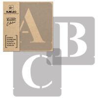 Pochoirs Lettres et Chiffres / 70mm / Times Roman Majuscule / Alphabet Nombres