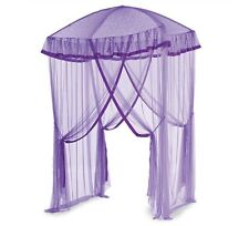HearthSong Sparkling Lights Lighted Canopy Bower for Kids Beds, in Purple
