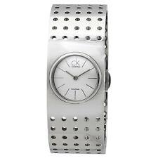 Calvin Klein Grid Silver Dial Ladies Watch K8322120