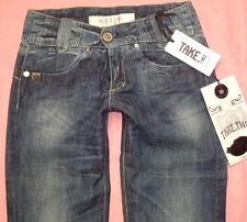 Take Two Jeans New View W27-W32 L34 NEU Denim Damen Hose Blau Used Gerades Bein