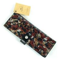 Patricia Nash Marotta Scarlet Bloom Card Wallet Black Burgundy Floral NWT $59