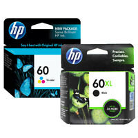 HP 60XL Black & HP 60 Tri-Color Genuine Ink Cartridges In Retail Box