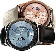✅Samsung Galaxy S2 Classic SM-R732 Smartwatch Original leather Strap Silver/Gold