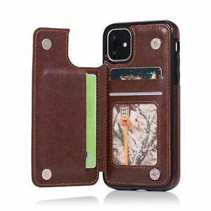 Leather Folio Flip Wallet Case Cover For iPhone 11 Pro XS Max XR 8 7 6 5