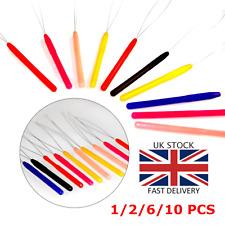 Hair Extension Tool Nano Bead Micro Ring Pulling Hoop Loop Threader Link I-Tip