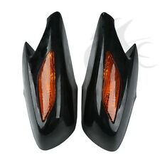 Left Right Black Rear View Mirror With Orange Turn Signal For Honda ST1300 02-11