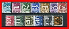 1970 - 1975 Set of 13 Decimal Postage Dues SG. D77 - D89. UNMOUNTED MINT.