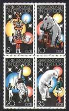 Allemagne 1978 Cirque/OURS/CHEVAL/ELEPHANT 4 V BLK (n27864)