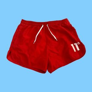 11 Degrees Swim Shorts in Red with Logo