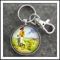 Vintage Raleigh  Bicycle Ad Photo Keychain  Pendant Gift 🎁Free Shipping