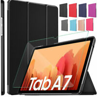 Tempered Glass & Smart Case Tablet Cover Samsung Galaxy Tab A7 10.4 T500/T505/07