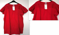 Magliette da donna a manica corta in cotone rosso