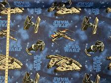 Baumwollstoff  - Star Wars - Millennium Falke - Blau