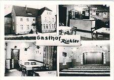 7/856 FOTO IM AK FORMAT HIRSCHFELD GASTHOF RICHTER - BRANDENBURG SCHRADENLAND