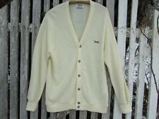 Vintage Mens 1980s Fox Collection ivory cream cardigan sweater sz L Jc Penney