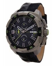 DIESEL DZ4420 MEN'S HEAVYWEIGHT CHRONOGRAPH MIXED MEDIA STRAP WATCH NEW IN BOX
