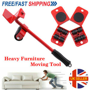 Heavy Furniture Lifter Shifter Remover Roller Wheels Moving Tools Kit Move Set