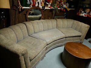 Vintage 3-piece Curved Sofa